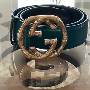 *RARE* Emerald Green Gucci Bamboo Belt